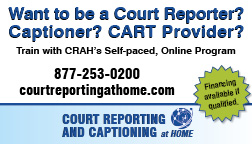Court Reporting Banner ad