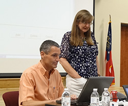 Dr. Gerrit Hoogenboom and Dr. Cheryl Porter at DSSAT 2013